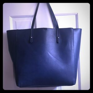 Gap faux leather navy tote.  Like new!